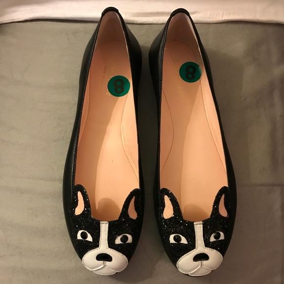 "7c428793f7b kate spade Shoes - Kate Spade ""Boston Terrier"" Flats.NEVER WORN!"